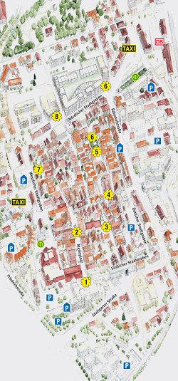 Aalen City blüht 2014 - Stadtplan