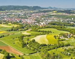 Panoramablick auf die Stadt Aalen